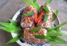 phần thịt vai ngon nhất của con lợn sẽ được dùng làm món chả thịt lam