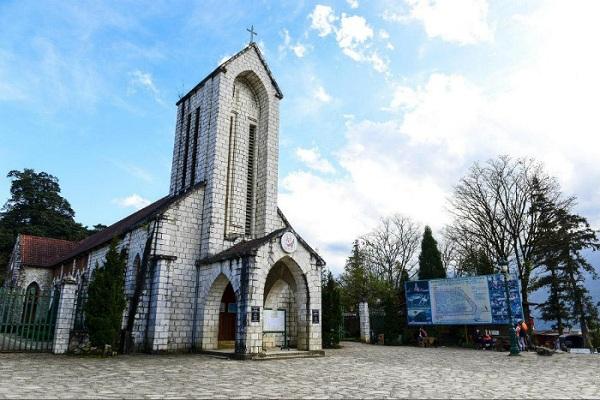 Cảnh đẹp Sapa: nhà thờ đá