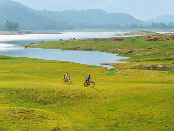 Ngắm Hồ Phú Ninh mùa nước cạn – điểm đến ít người biết ở Quảng Nam