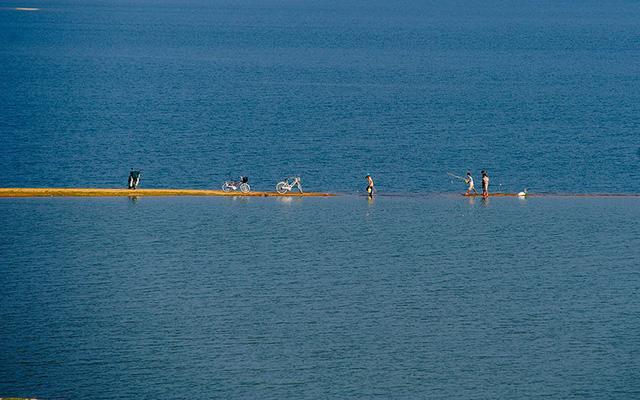 Ngắm Hồ Phú Ninh mùa nước cạn