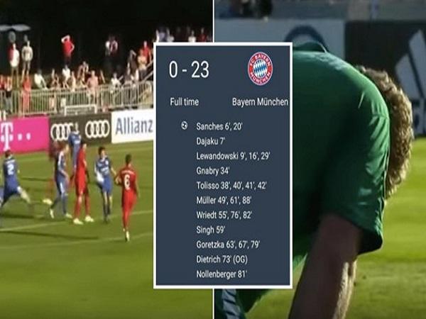 Bayern Munich 'hủy diệt' đối thủ 23-0 ở lượt trận giao hữu