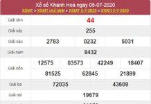 Thống kê XSKH 8/7/2020 chốt KQXS Khánh Hoà thứ 4