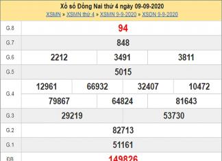 Nhận định KQXSDN- xổ số đồng nai ngày 16/09/2020 chuẩn