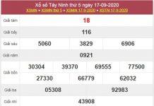 Thống kê XSTN 24/9/2020 chốt lô VIP Tây Ninh thứ 5