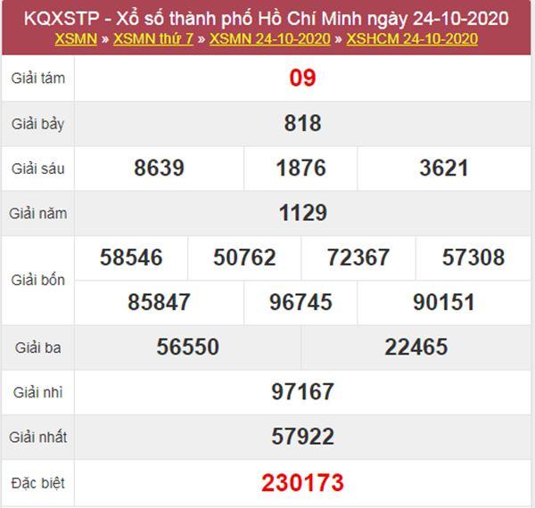 Thống kê XSHCM 26/10/2020 chốt lô VIP Hồ Chí Minh thứ 2