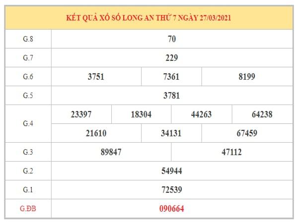 Thống kê KQXSLA ngày 3/4/2021 dựa trên kết quả kì trước