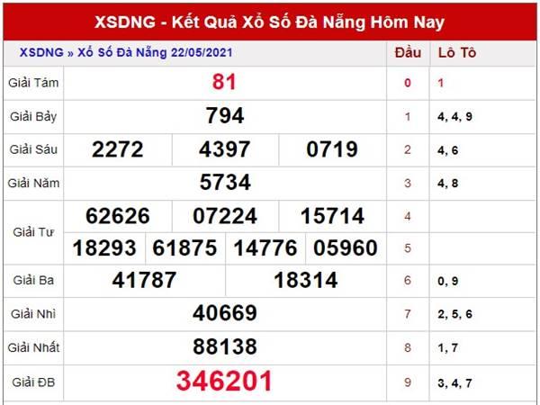 Thống kê kết quả XSDNG thứ 4 ngày 26/5/2021