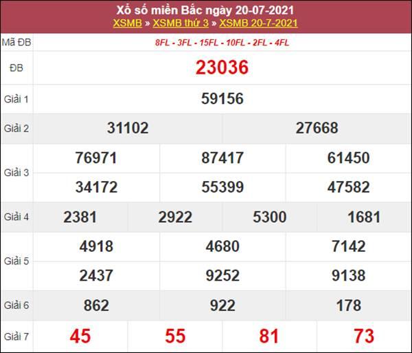 Thống kê XSMB 21/7/2021 thứ 4 chốt cặp số VIP miền Bắc